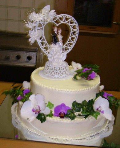 zur Hochzeit mit echten Orchideen